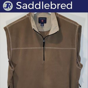 🐎Saddlebred Pullover Quarter-Zip Vest-Brown Large